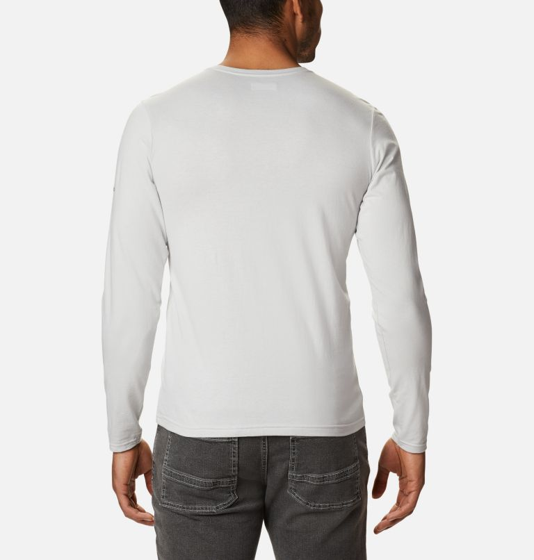 Lookout Point™ LS Graphic Tee | 043 | XL Men's Lookout Point™ Long Sleeve Graphic T-Shirt, Nimbus Grey CSC Buffalo Plaid, back