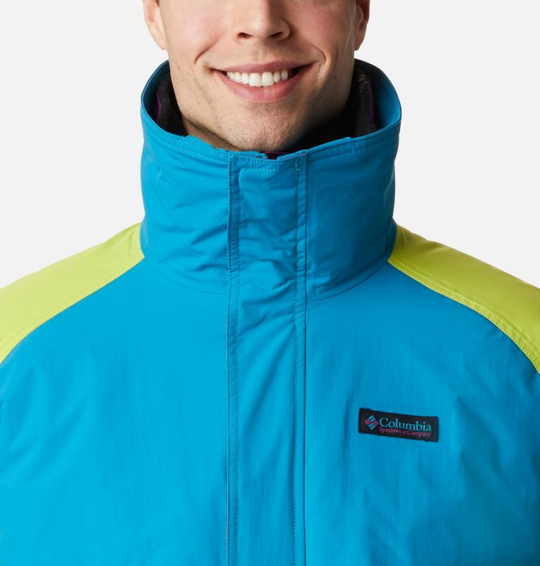 Powder Keg™ Interchange Parka | 462 | XL Men's Powder Keg™ Interchange Parka, Fjord Blue, Bright Chartreuse, a2