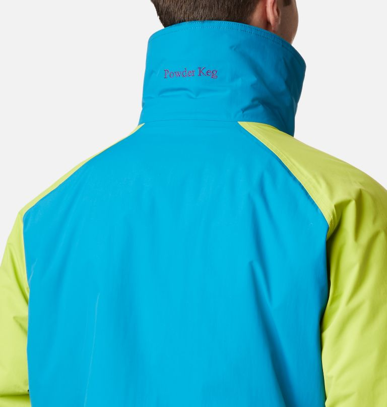 Powder Keg™ Interchange Parka | 462 | XL Men's Powder Keg™ Interchange Parka, Fjord Blue, Bright Chartreuse, a4
