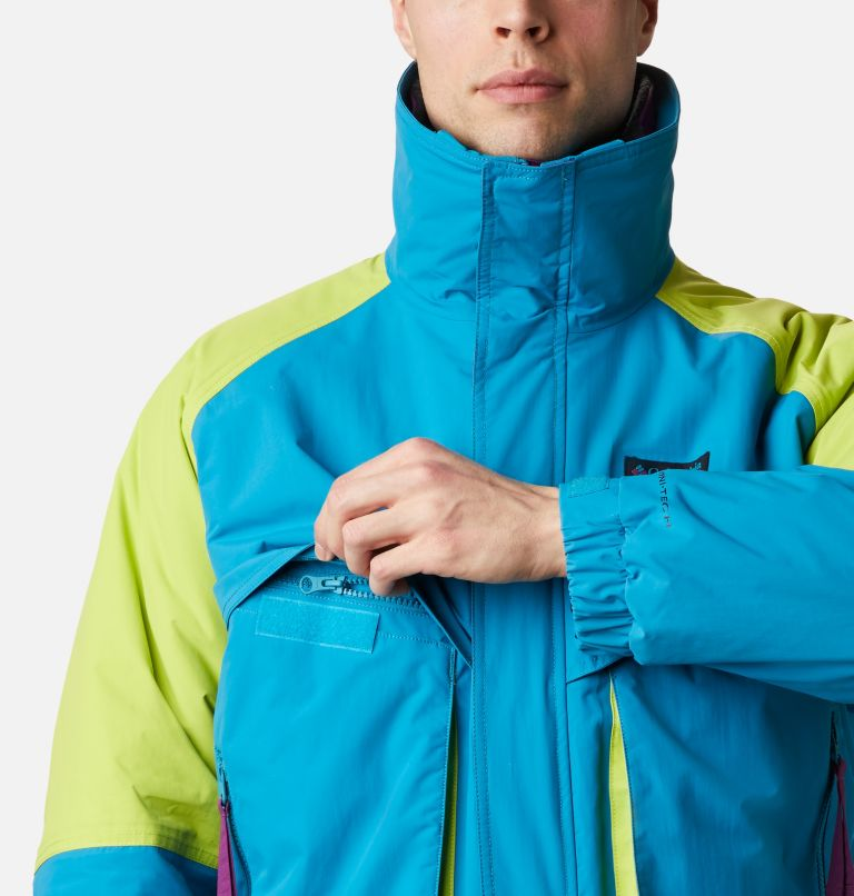 Powder Keg™ Interchange Parka | 462 | XL Men's Powder Keg™ Interchange Parka, Fjord Blue, Bright Chartreuse, a5