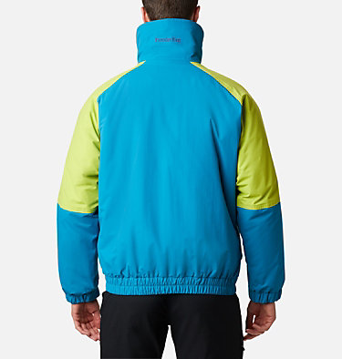Men's Powder Keg Interchange Parka Powder Keg™ Interchange Parka | 462 | L, Fjord Blue, Bright Chartreuse, back