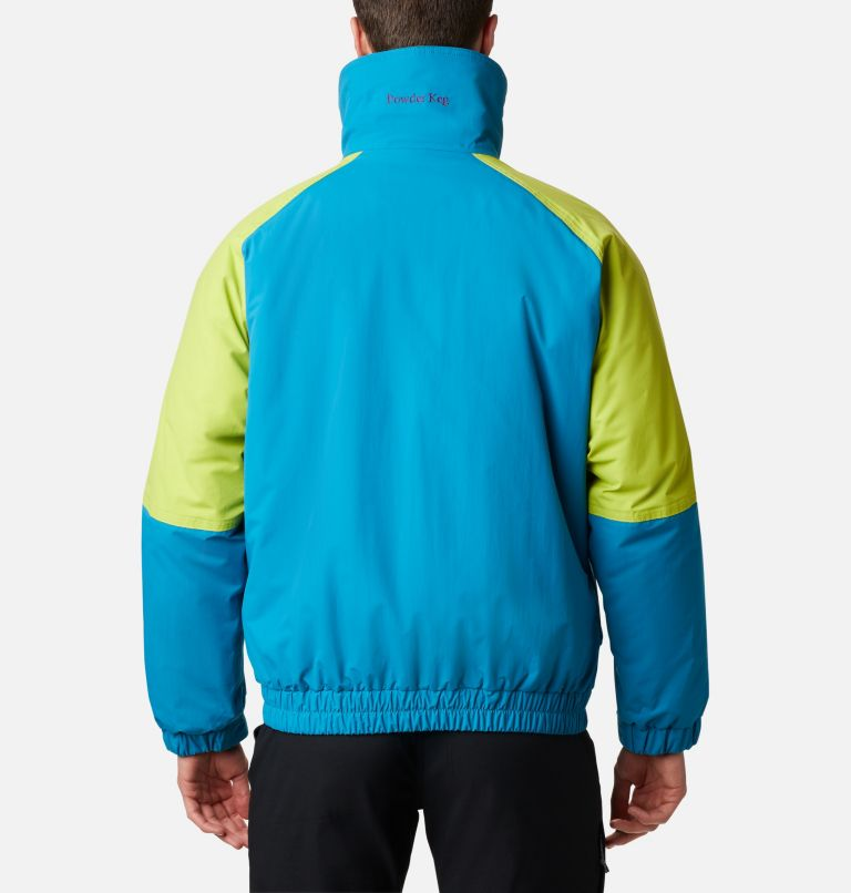 Powder Keg™ Interchange Parka | 462 | XL Men's Powder Keg™ Interchange Parka, Fjord Blue, Bright Chartreuse, back