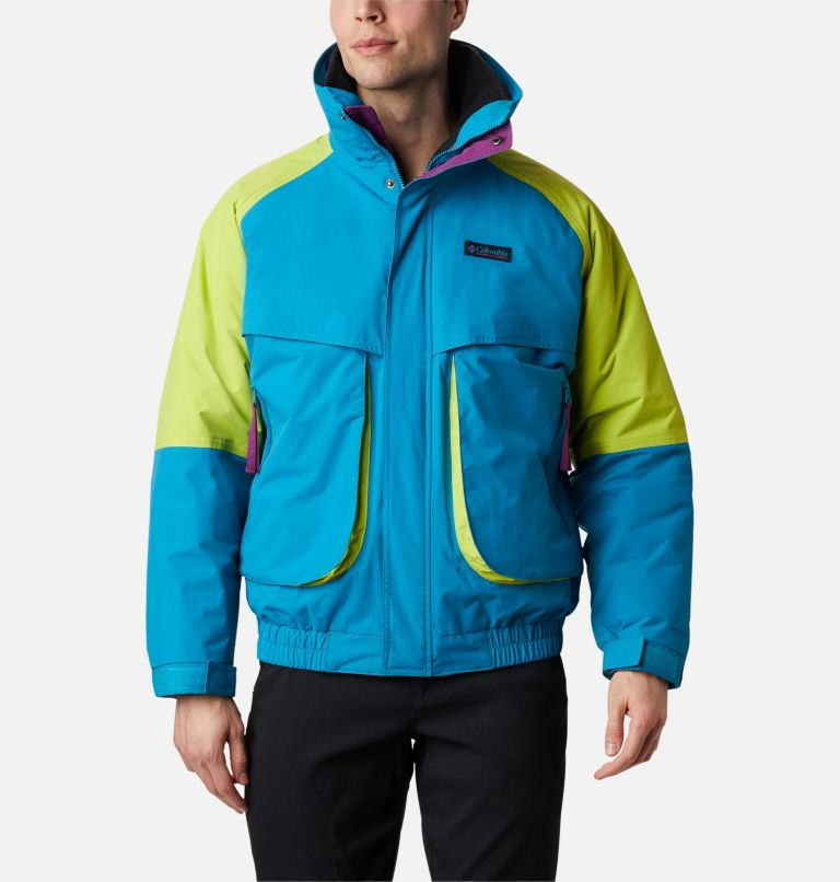Powder Keg™ Interchange Parka | 462 | XL Men's Powder Keg™ Interchange Parka, Fjord Blue, Bright Chartreuse, front