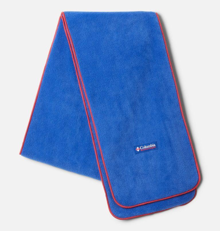 Columbia™ Fleece Scarf | 410 | O/S Columbia™ Fleece Scarf - Icons, Lapis Blue, Bright Geranium, front