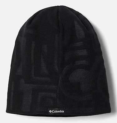 Unisex City Trek™ Debossed Beanie City Trek™ Debossed Beanie | 100 | O/S, Black Typo Print, a1