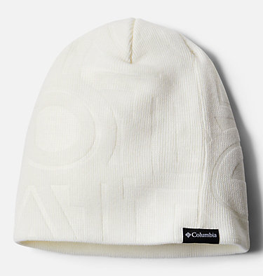 Unisex City Trek™ Debossed Beanie City Trek™ Debossed Beanie | 100 | O/S, White Typo Print, front