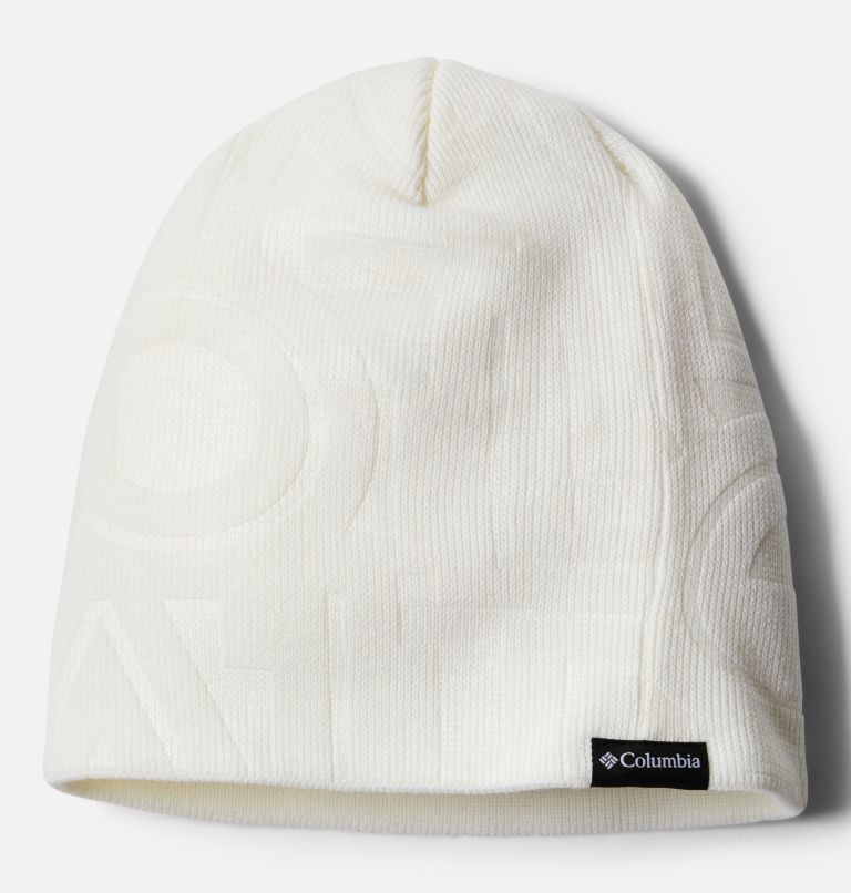 City Trek™ Debossed Beanie | 100 | O/S City Trek™ Debossed Beanie, White Typo Print, front