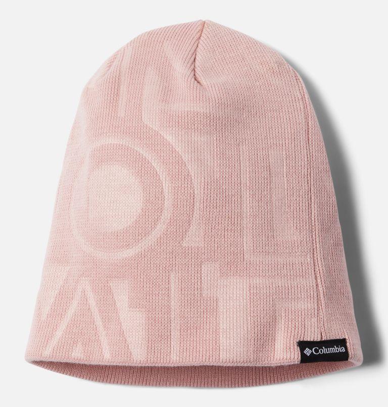 City Trek™ Debossed Beanie | 618 | O/S City Trek™ Debossed Beanie, Mineral Pink Typo Print, front