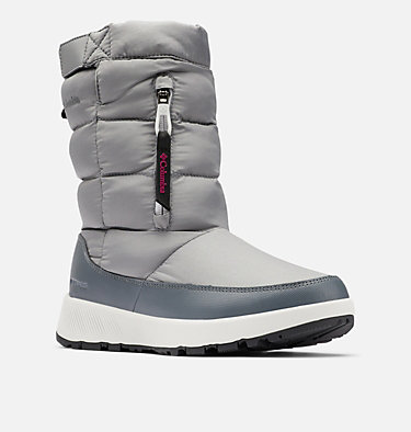 Women's Paninaro™ Omni-Heat™ Pull-On Boot PANINARO™ OMNI-HEAT™ PULL ON | 010 | 10, Ti Grey Steel, Dark Fuchsia, 3/4 front