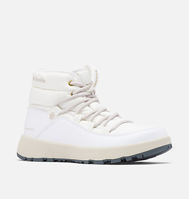 Women's Slopeside Village™ Omni-Heat™ Mid Boot SLOPESIDE VILLAGE™ OMNI-HEAT™ MID | 010 | 10.5, White, Dark Stone, 3/4 front