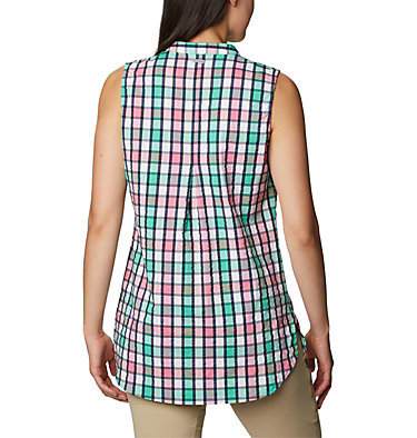 Women's Cherry Creek Lane™ Sleeveless Tunic Cherry Creek Lane™ EXS Sleeveless Tunic | 707 | L, Winter Green 01, back