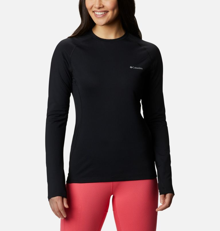 W Omni-Heat 3D™ Knit Crew II | 010 | M Women's Omni-Heat 3D™ Knit Crew II Baselayer Shirt, Black, front