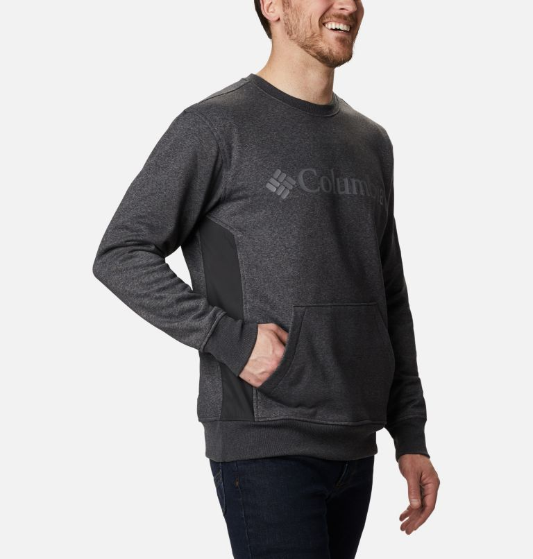 Minam River™ Crew | 010 | XL Men's Minam River™ Crew, Black Heather, Black, a3