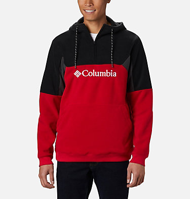 Men's Columbia Lodge™ II Fleece Hoodie Columbia Lodge™ II Fleece Hoodie | 023 | L, Mountain Red, Black, Shark, front