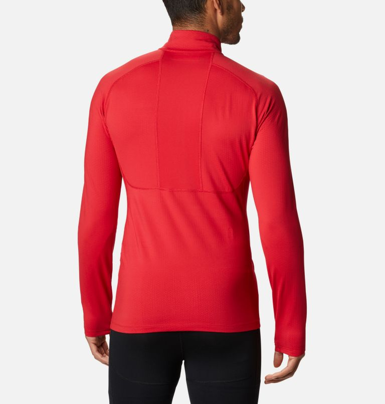 Omni-Heat 3D™ Knit Half Zip II | 613 | L Men's Omni-Heat 3D™ Knit Half Zip II Baselayer Shirt, Mountain Red, back