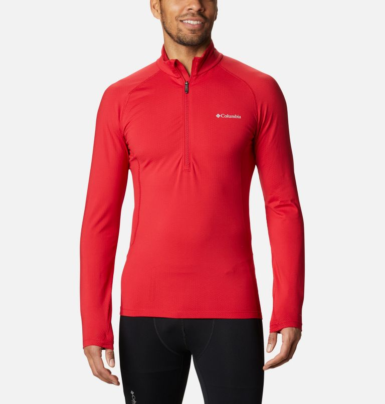 Omni-Heat 3D™ Knit Half Zip II | 613 | L Men's Omni-Heat 3D™ Knit Half Zip II Baselayer Shirt, Mountain Red, front