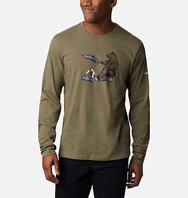 T-shirt imprimé Bear Springs™ pour homme Bear Springs™ Graphic Tee | 023 | XXL, Stone Green Roast and Relax, front