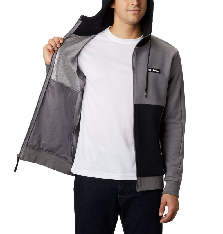 Mountain View™ Full Zip | 023 | S Chandail à fermeture éclair Mountain View™ pour homme, City Grey, Columbia Grey, a3