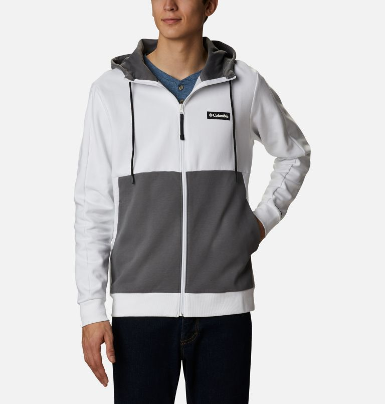 Mountain View™ Full Zip | 100 | XL Chandail à fermeture éclair Mountain View™ pour homme, White, Black, front