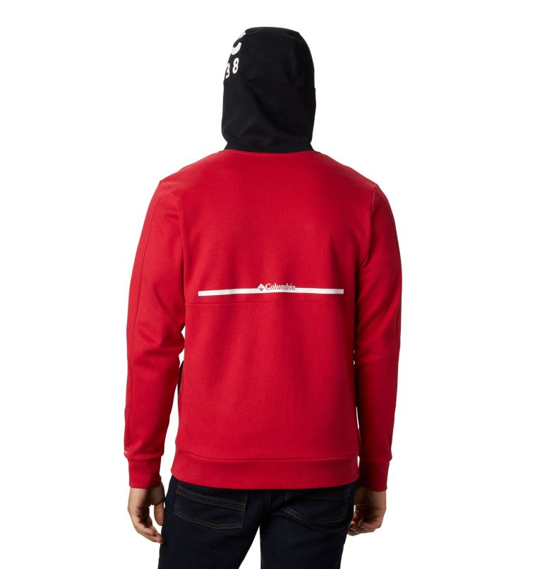Mountain View™ Full Zip   613   S Chandail à fermeture éclair Mountain View™ pour homme, Mountain Red, White, back