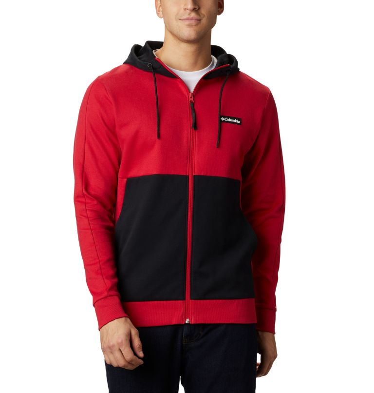 Mountain View™ Full Zip   613   S Chandail à fermeture éclair Mountain View™ pour homme, Mountain Red, White, front