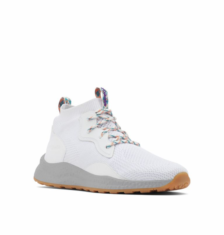 SH/FT™ MID BREEZE | 100 | 8.5 Men's SH/FT™ Mid Breeze Shoe, White, Vivid Purple, 3/4 front