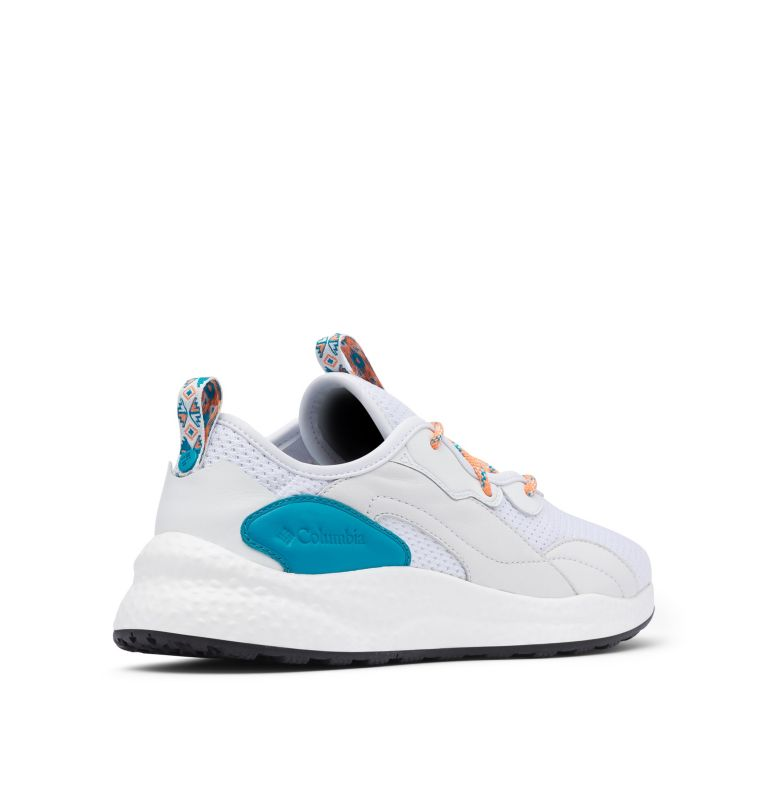 SH/FT™ LOW BREEZE | 100 | 11.5 Men's SH/FT™ Low Breeze Shoe - Icons, White, Clear Water, 3/4 back