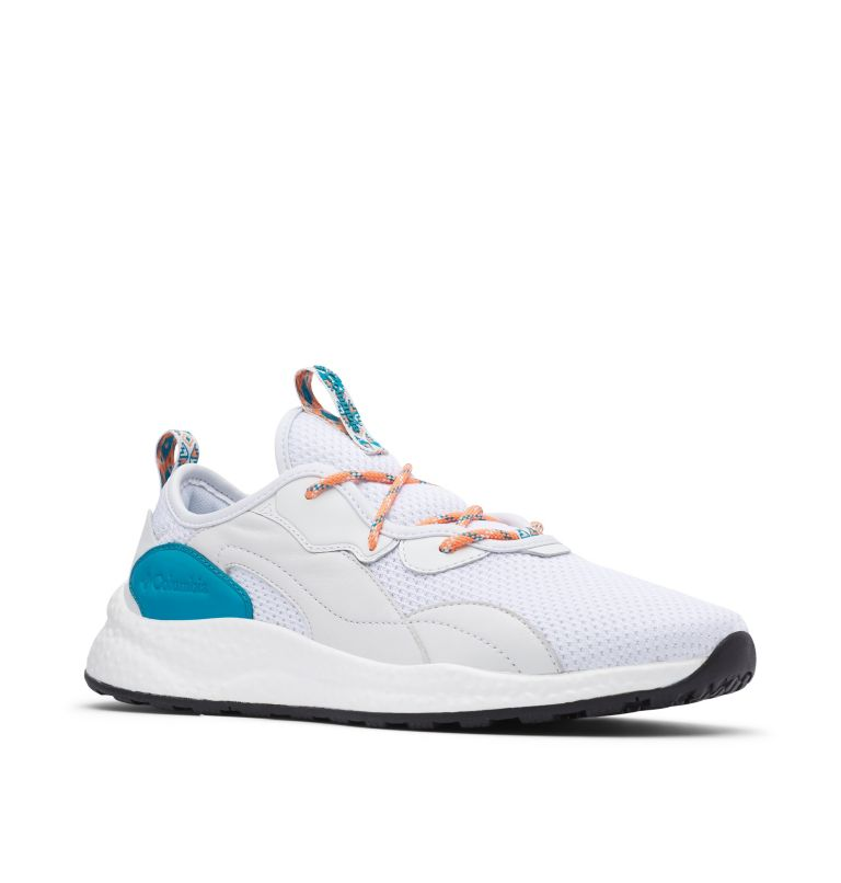 SH/FT™ LOW BREEZE | 100 | 11.5 Men's SH/FT™ Low Breeze Shoe - Icons, White, Clear Water, 3/4 front