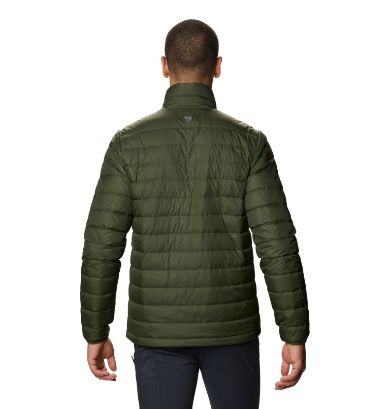 Hotlum M Jacket | 347 | M Men's Hotlum Down Jacket, Surplus Green, back