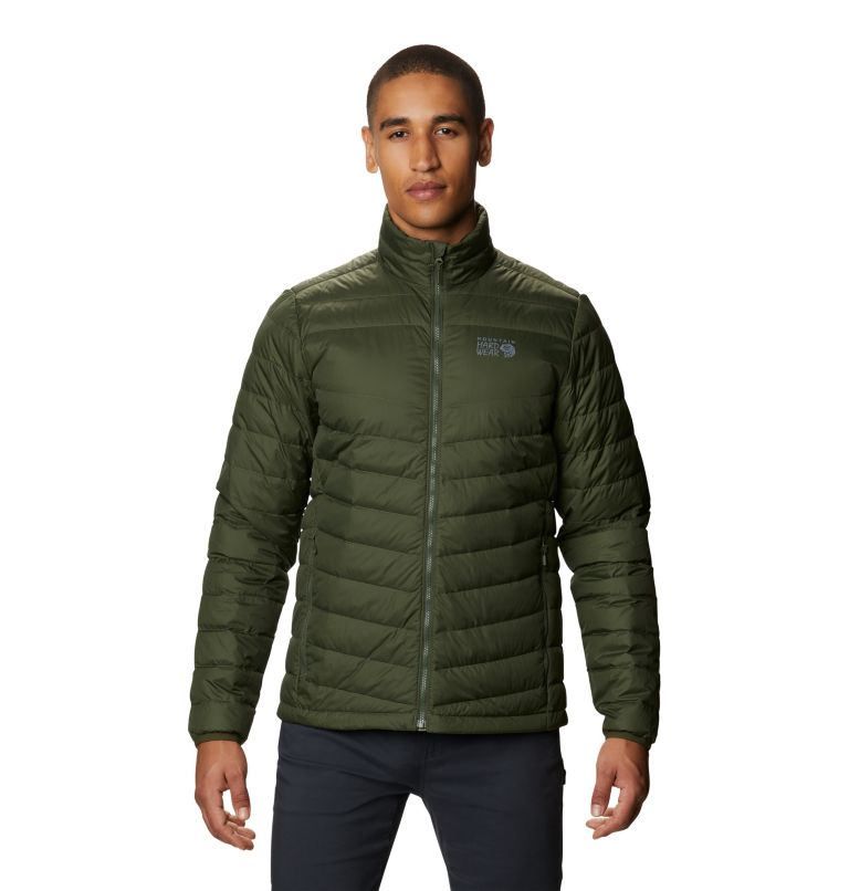 Hotlum M Jacket | 347 | M Men's Hotlum Down Jacket, Surplus Green, front