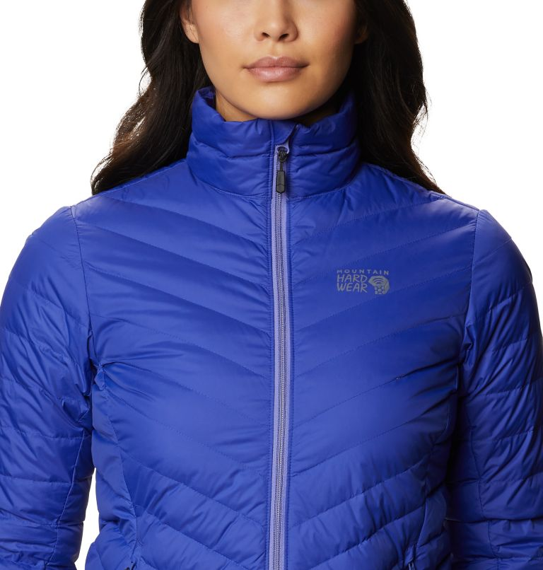 Hotlum W Jacket | 516 | L Women's Hotlum Down Jacket, Blue Print, a2