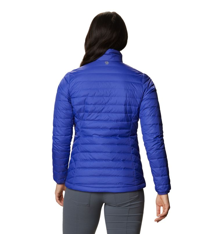 Hotlum W Jacket | 516 | L Women's Hotlum Down Jacket, Blue Print, back