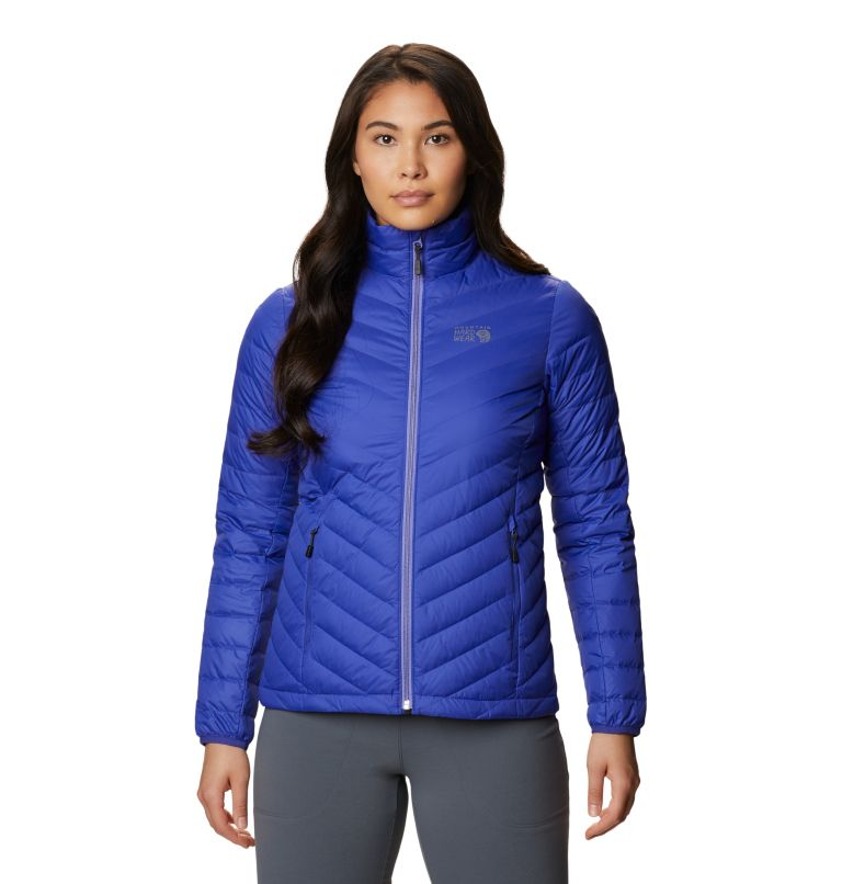 Hotlum W Jacket | 516 | L Women's Hotlum Down Jacket, Blue Print, front