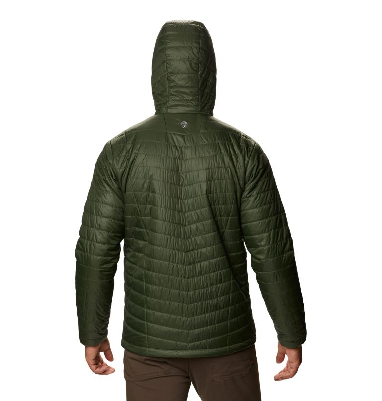 Derra Hooded Jacket M | 347 | XL Men's Derra Hooded Jacket, Surplus Green, back