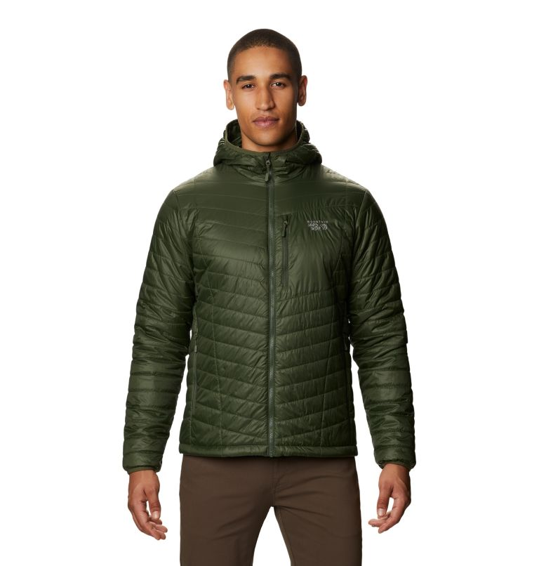Derra Hooded Jacket M | 347 | XL Men's Derra Hooded Jacket, Surplus Green, front