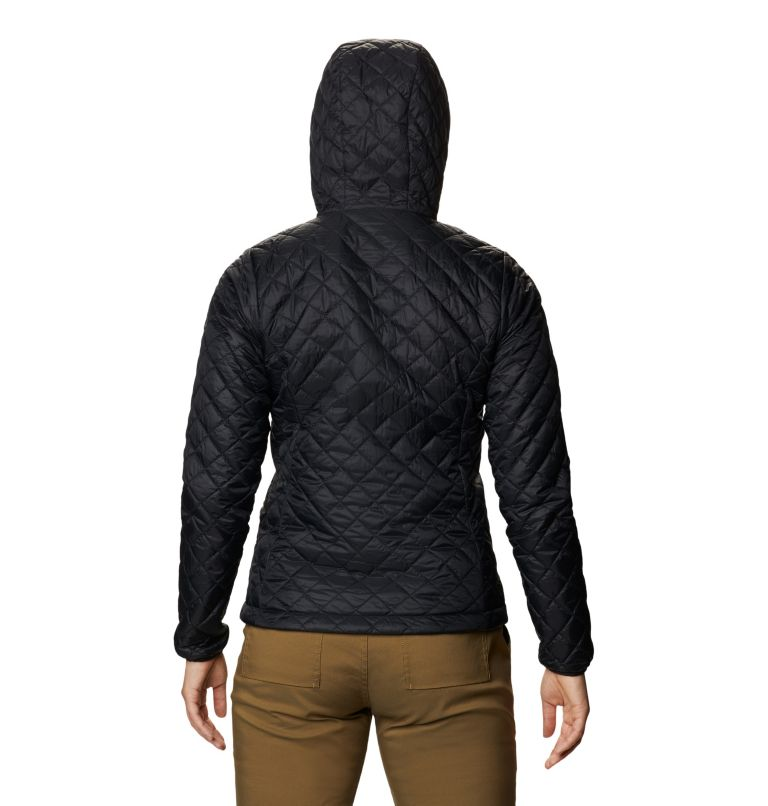 Derra Hooded Jacket W | 010 | L Women's Derra Hooded Jacket, Black, back