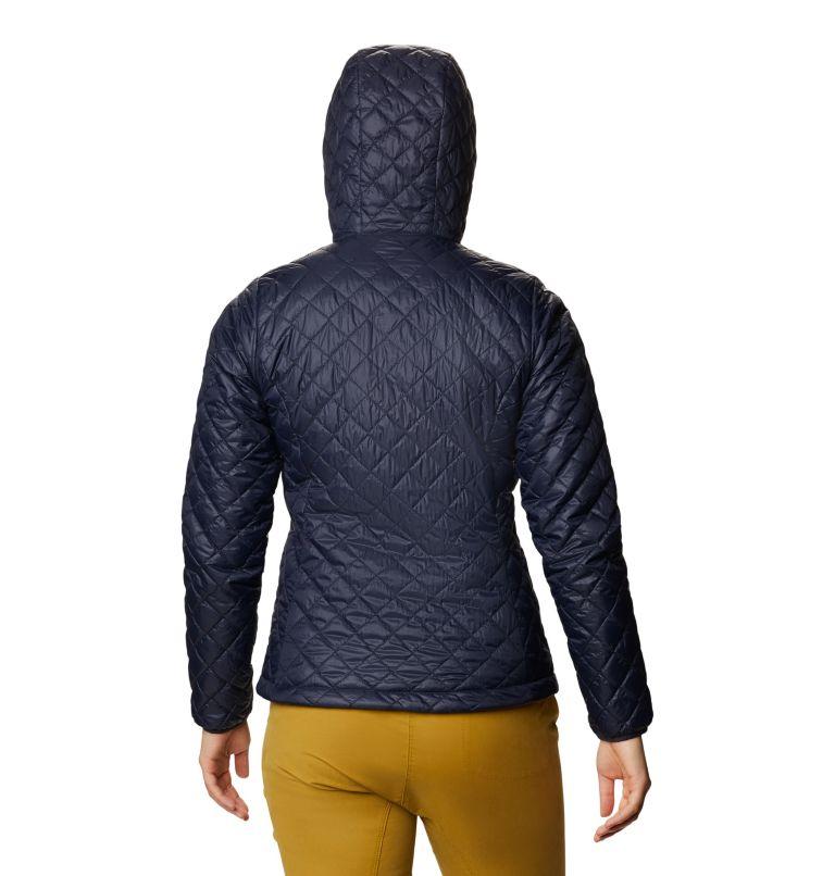 Derra Hooded Jacket W | 406 | S Women's Derra Hooded Jacket, Dark Zinc, back
