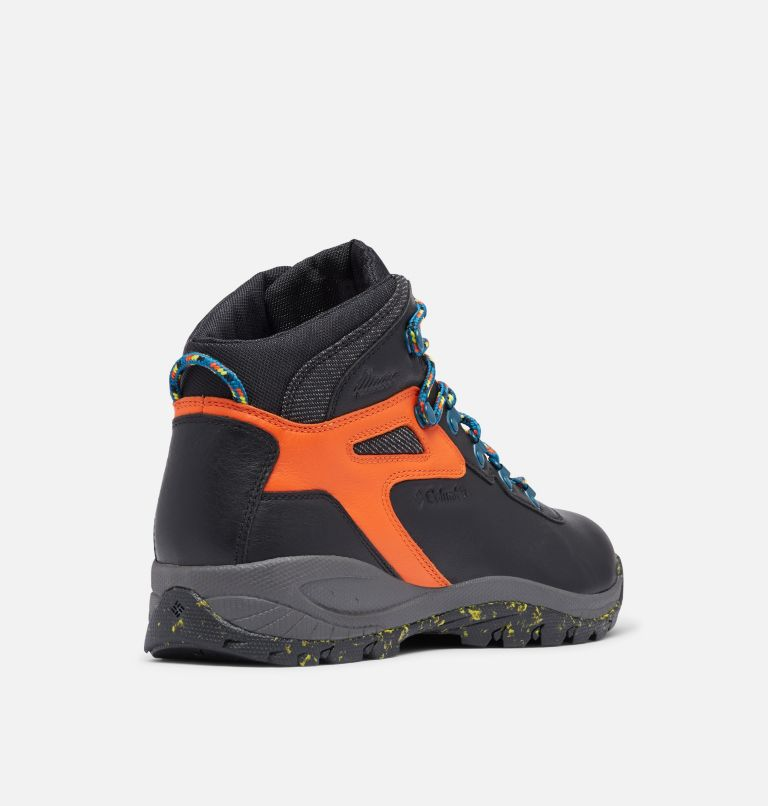 NEWTON RIDGE™ LUXE | 010 | 14 Men's Newton Ridge™ Luxe Hiking Boot - Limited Edition, Black, Tangy Orange, 3/4 back