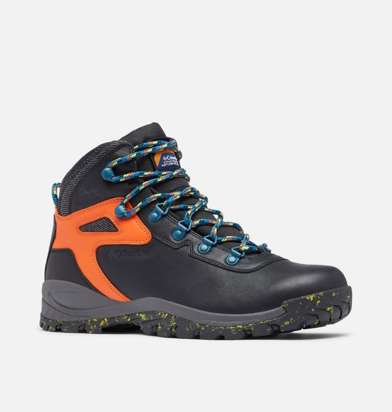 NEWTON RIDGE™ LUXE | 010 | 14 Men's Newton Ridge™ Luxe Hiking Boot - Limited Edition, Black, Tangy Orange, 3/4 front