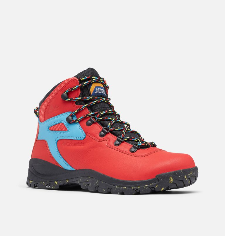 NEWTON RIDGE™ LUXE | 691 | 8 Men's Newton Ridge™ Luxe Hiking Boot - Limited Edition, Bright Red, Black, 3/4 front