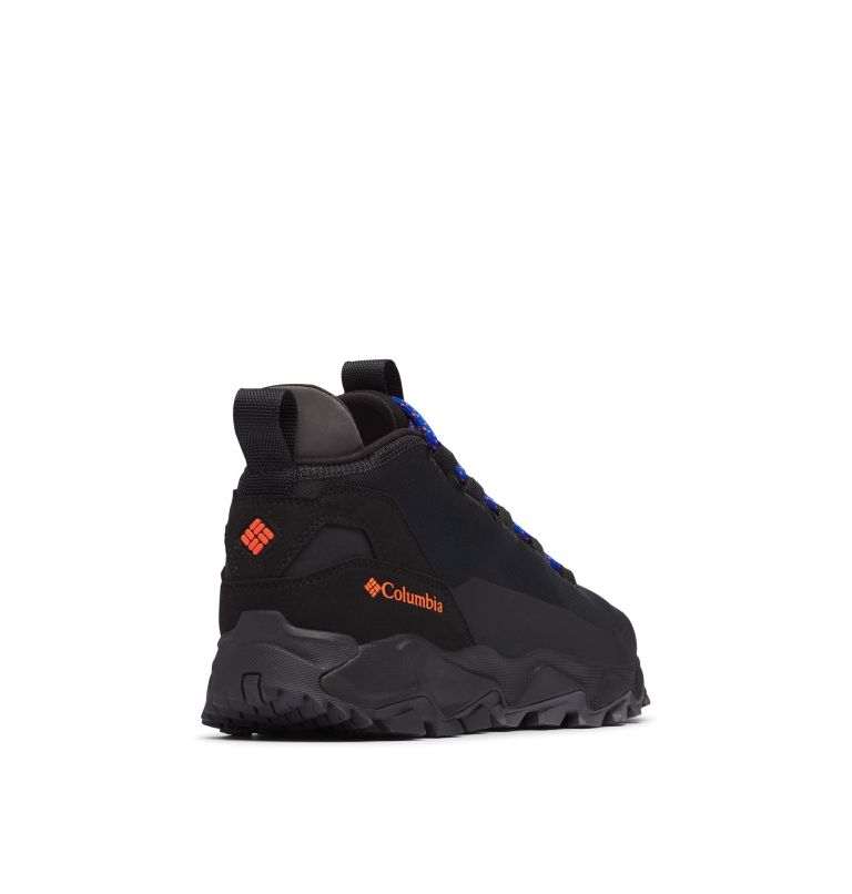 FLOW™ BOROUGH LOW | 010 | 14 Men's Flow™ Borough Low Shoe, Black, Tangy Orange, 3/4 back