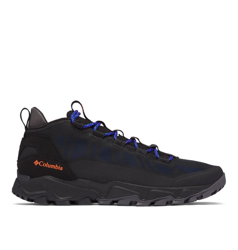 FLOW™ BOROUGH LOW | 010 | 14 Men's Flow™ Borough Low Shoe, Black, Tangy Orange, front