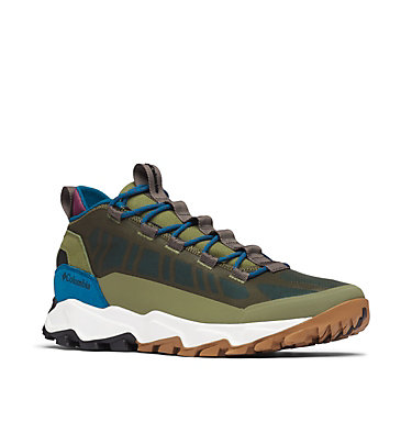 Men's Flow Borough Low Shoe FLOW™ BOROUGH LOW | 010 | 10, Hiker Green, Lagoon, 3/4 front