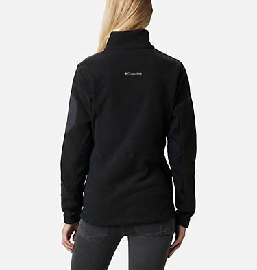 Women's Polar Powder™ Full Zip Fleece Jacket W Polar Powder™ Fleece FZ | 100 | L, Black, back