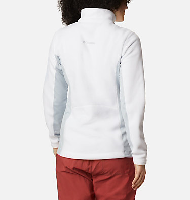 Women's Polar Powder™ Full Zip Fleece Jacket W Polar Powder™ Fleece FZ | 100 | L, White, Cirrus Grey, back
