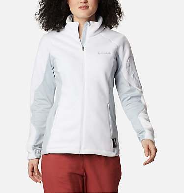 Women's Polar Powder™ Full Zip Fleece Jacket W Polar Powder™ Fleece FZ | 100 | L, White, Cirrus Grey, front