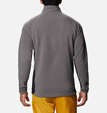 Men's Polar Powder Fleece  M Polar Powder™ Full Zip | 464 | XL, City Grey, Black, back