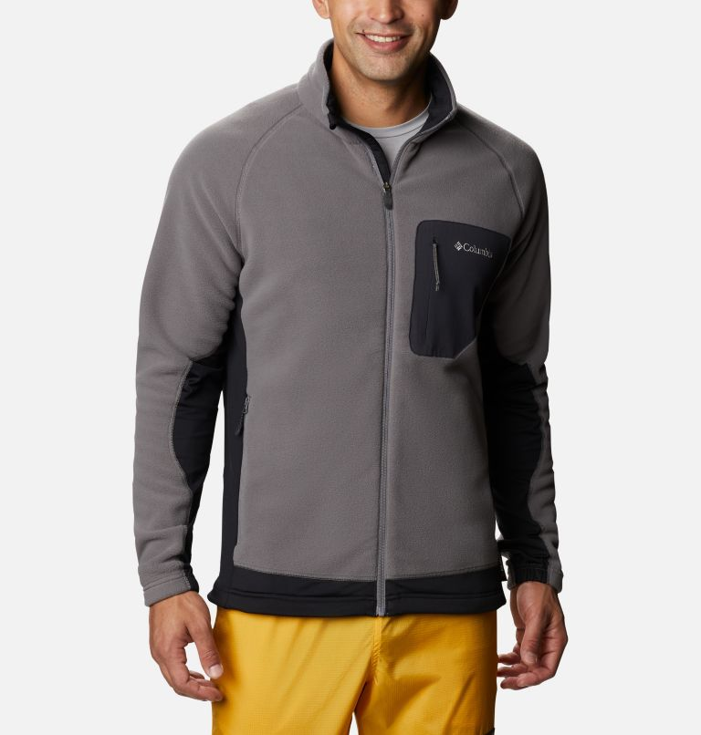 M Polar Powder™ Full Zip | 023 | XXL Pile Polar Powder da uomo , City Grey, Black, front