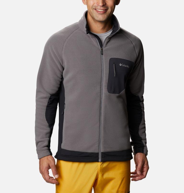 M Polar Powder™ Full Zip | 023 | S Pile Polar Powder da uomo , City Grey, Black, front