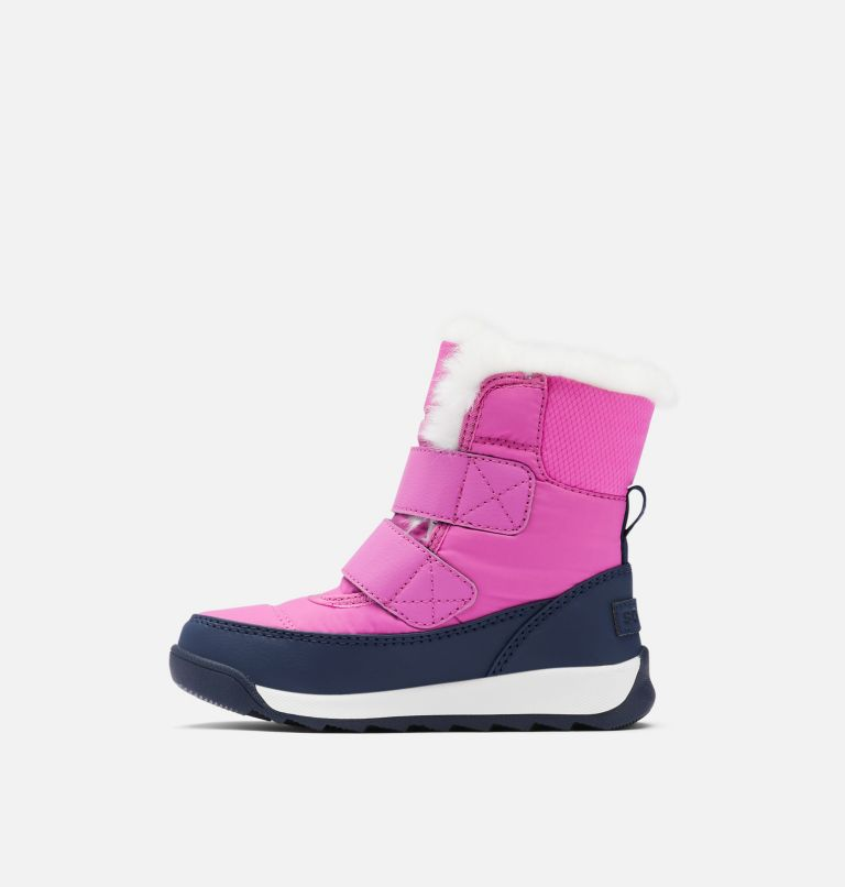 TODDLER WHITNEY™ II STRAP WP | 547 | 5 Toddler Whitney™ II Strap Boot, Bright Lavender, Collegiate Navy, medial
